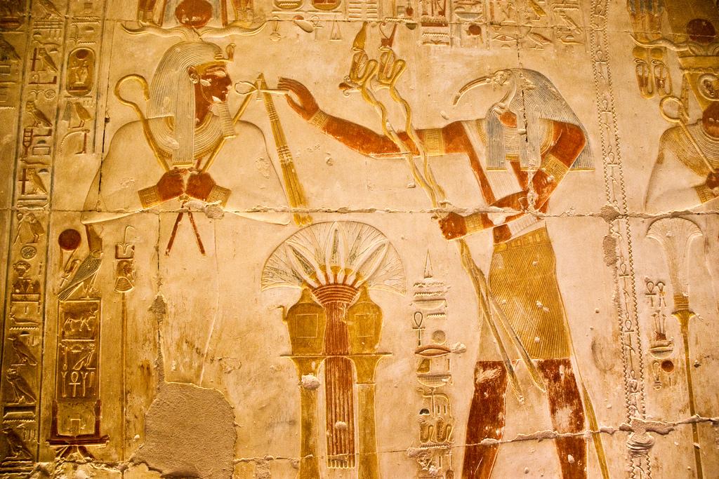 Lotus flower hieroglyphics in Ancient Egypt