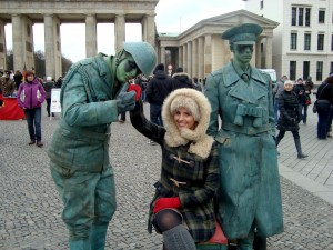 Street performers in front of the Brandenburg Gate, Berlin