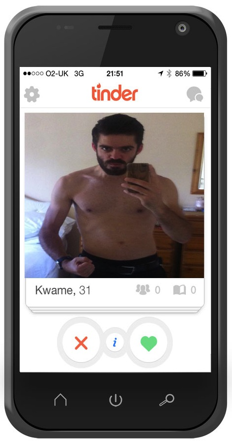 Topless shot on Tinder