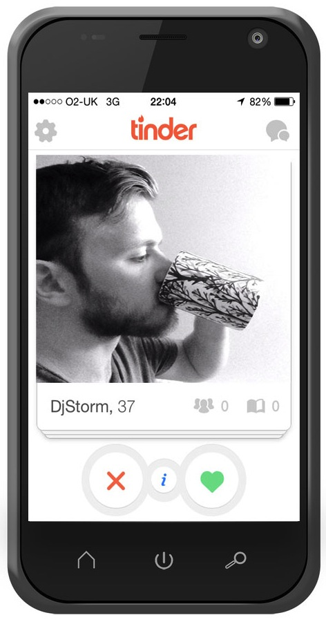 Arty shot on Tinder
