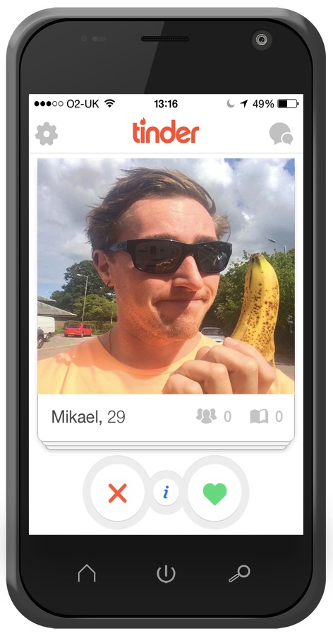 Funny banana photo on Tinder