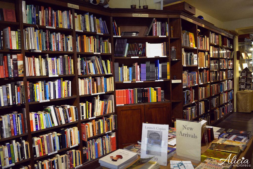Bookshelves at Treadwell's