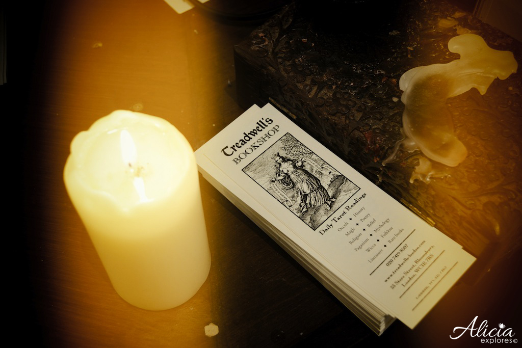 Candles and Bookmark at Treadwells