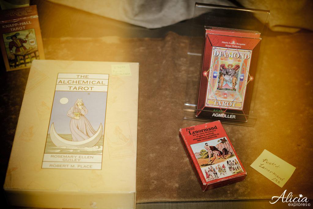 Old tarot card deck
