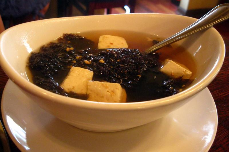 Seaweed soup in Korea