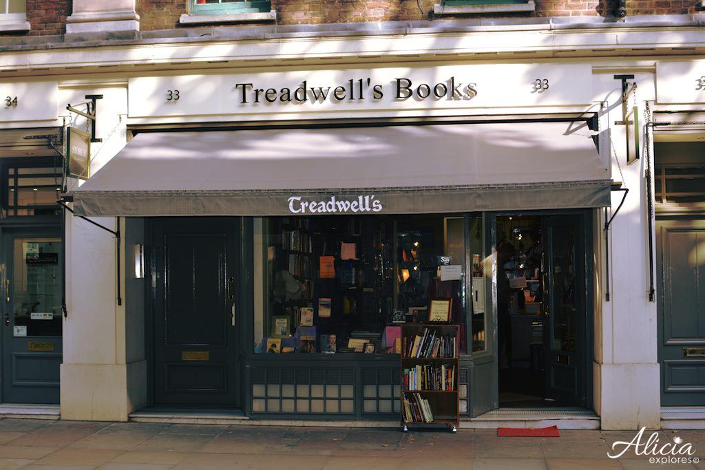 Treadwell's Bookshop on Store Street Lond