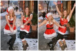 Santa Con Snow Fight