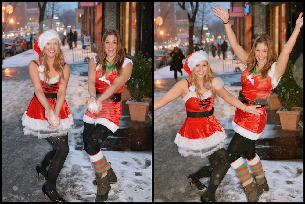 Santa Con Snowball Fight