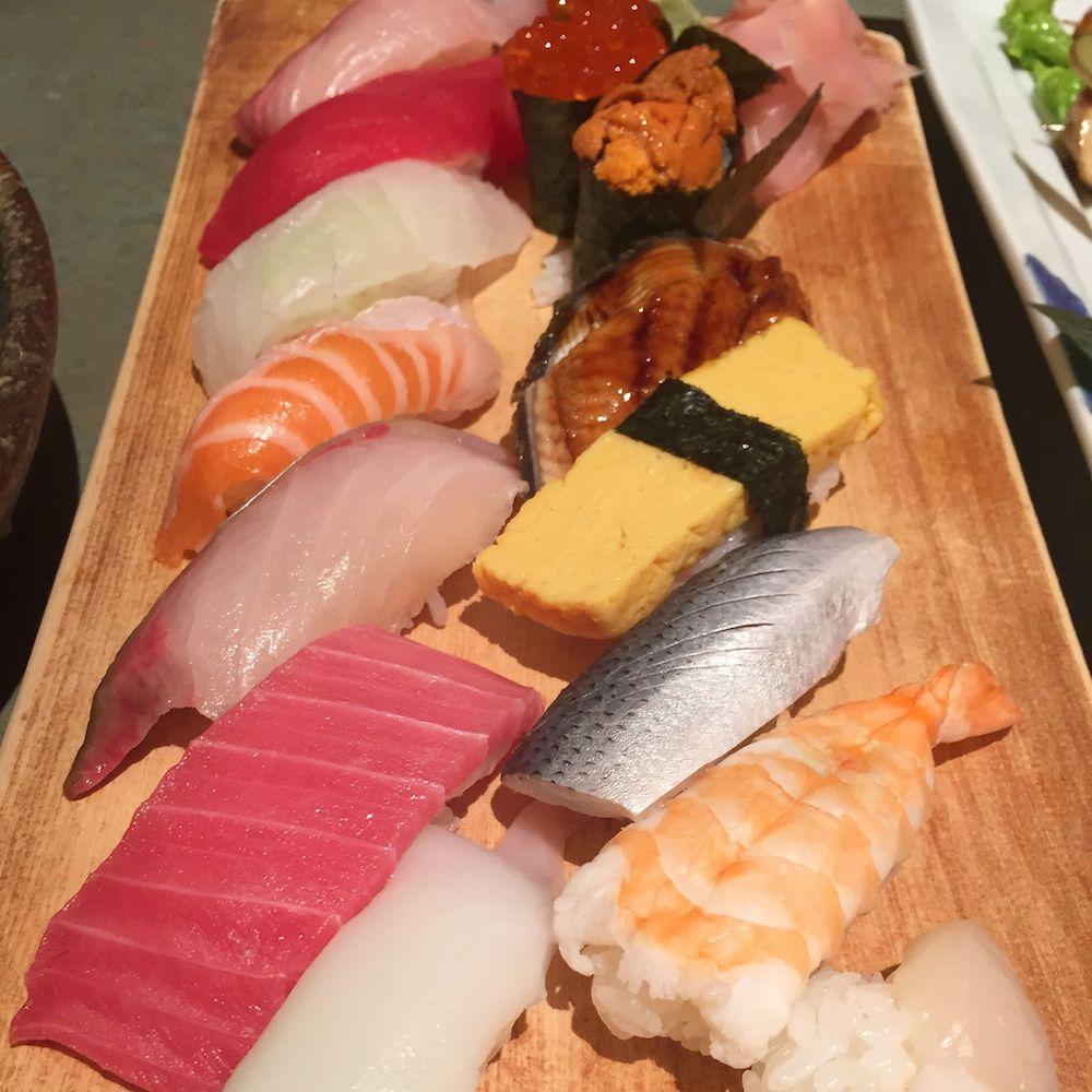 Salmon, Tuna, Prawn Nigiri