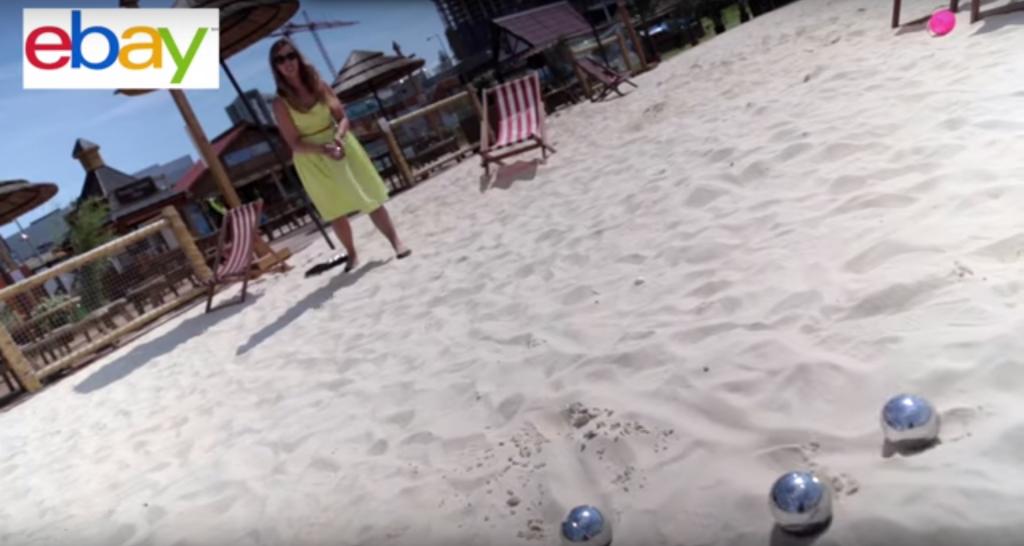 Boules on the beach
