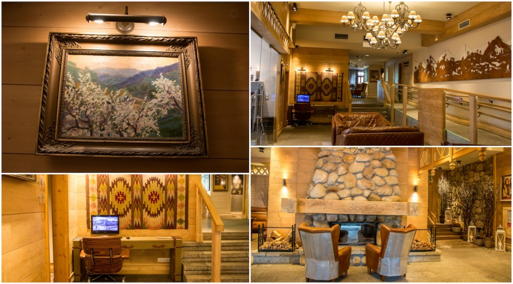 Aries Hotel Lobby Collage